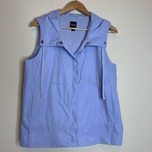 Eileen Fisher Waterproof Periwinkle Hooded Vest